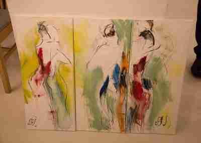 Liisa Rasinkangas live painting of Tango